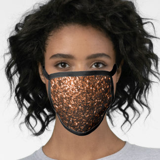 Beautiful Bronze Orange Brown glitters sparkles Face Mask