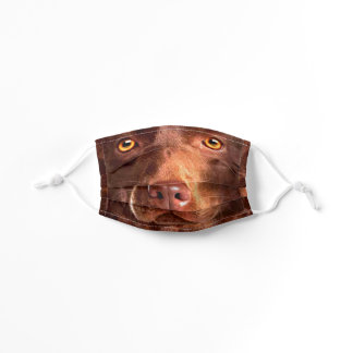Beautiful Brown Pup Comes to Life Kids' Cloth Face Mask