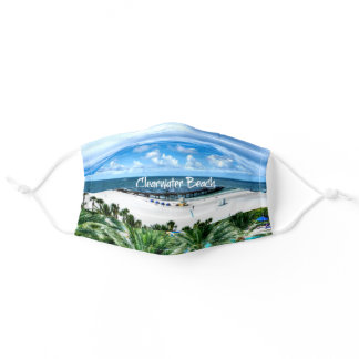Beautiful Clearwater Beach, Florida Adult Cloth Face Mask