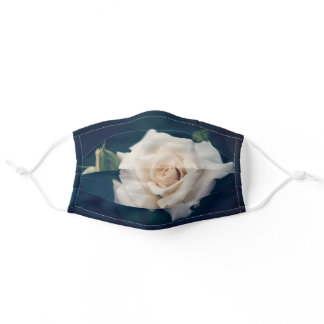 Beautiful creamy rose adult cloth face mask