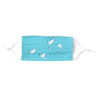 Beautiful Doves of Hope Face Mask