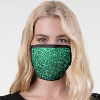 Beautiful Emerald Green glitter sparkles Face Mask