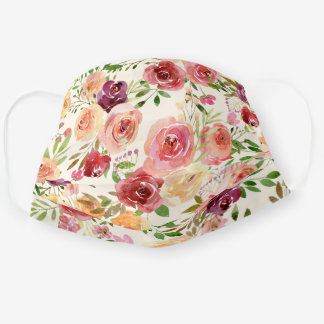 Beautiful Floral Cloth Face Mask