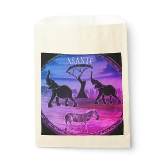 Beautiful Lovely Kenya Wild Animal Life Favor Bag