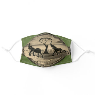 Beautiful Lovely Kenyan Wild Animal Safari COVID19 Adult Cloth Face Mask