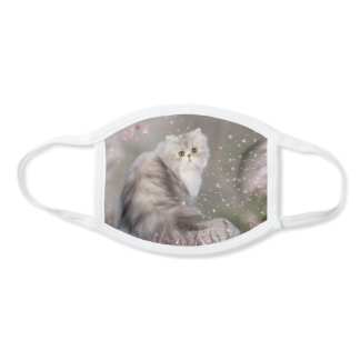 Beautiful Pastel Persian cat Face Mask