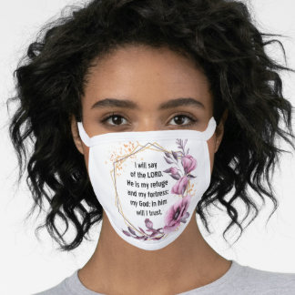 Beautiful Psalm 91 Face Mask