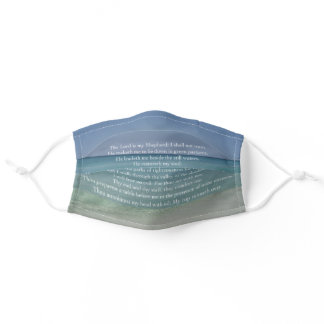 Beautiful Religious Psalm The Lord is My Shepherd Adult Cloth Face Mask
