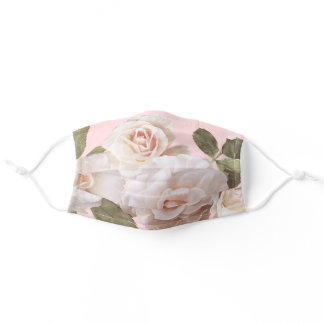Beautiful spring Classic Pink Roses Adult Cloth Face Mask