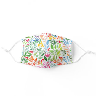 Beautiful summer forest colourful leaves pattern adult cloth face mask