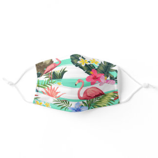 Beautiful Tropical Design Colorful Cloth Face Mask