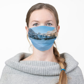 Beautiful winter scenery at Tamar valley, Slovenia Adult Cloth Face Mask