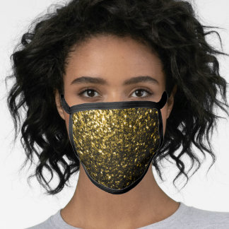 Beautiful Yellow Gold glitters sparkles Face Mask