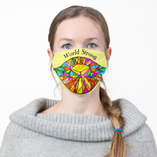 Beautifully Bright Diagonal Designed Pattern Adult Cloth Face Mask