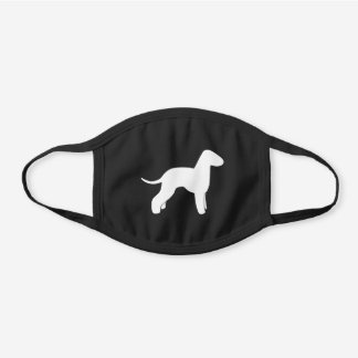 Bedlington Terrier Dog Breed Silhouette Black Cotton Face Mask