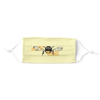 Bee Cloth Face Mask with Filter Slot