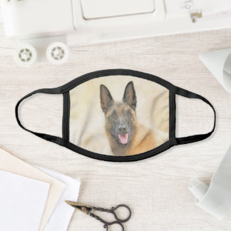 Belgian Malinois Painting - Cute Original Dog Art Face Mask