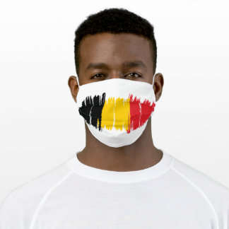 Belgium Country  Flag Unisex Adult Cloth Face Mask