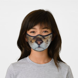Bengal cat nose and mouth cat photo premium face mask