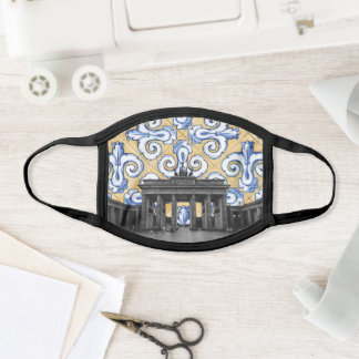 Berlin Meets Azulejo Spanish Tiles Montage Face Mask