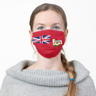 Bermuda flag Cloth Face Mask with Filter Slot