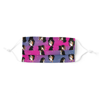 Bernese Mountain Dog Adult Cloth Face Mask