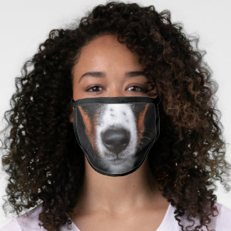 Bernese Mountain Dog Animal Face Cotton Poly Blend Face Mask