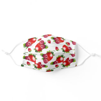 Berry Berry Sweet Strawberries & Raspberries Adult Cloth Face Mask
