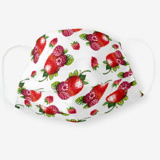 Berry Berry Sweet Strawberries & Raspberries Cloth Face Mask