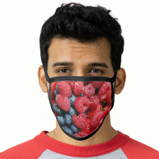 Berry Bonanza - Mixes red berries and blueberries Face Mask