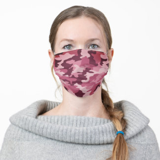 Berry Camouflage Adult Cloth Face Mask