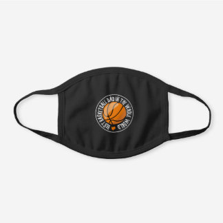 Best Basketball Dad Father's Day Stamp Ball Gift Black Cotton Face Mask