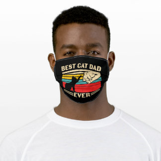 BEST CAT DAD EVER ADULT CLOTH FACE MASK
