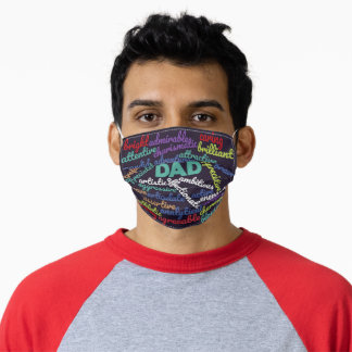 Best Dad Ever Happy Father's Day Gift Adult Cloth Face Mask