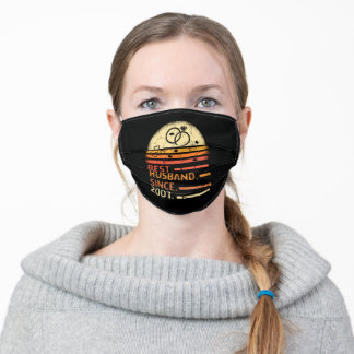 Best husband since 2001 retro vintage father's day adult cloth face mask