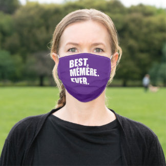 Best Memere Ever French Grandmother Adult Cloth Face Mask