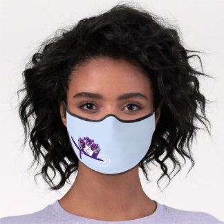 Best Mother! Pansies Premium Face Mask
