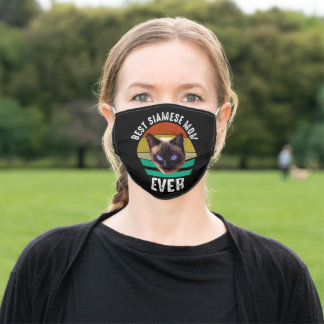 Best Siamese Mom Ever Adult Cloth Face Mask