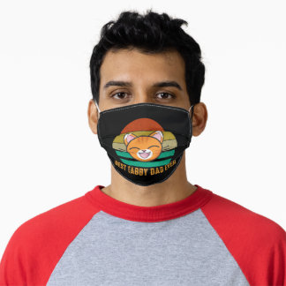 Best Tabby Dad Ever Funny Orange Cat Lover Adult Cloth Face Mask