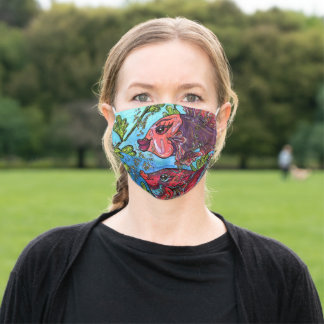 Bette and Joan the Bettas Adult Cloth Face Mask