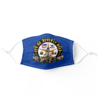 Beverly Hills, California City Flag Cloth Face Mas Adult Cloth Face Mask