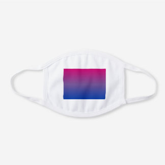 bi colors white cotton face mask