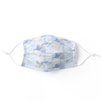 Bible Verse John 14:1 with Dove and Clouds Adult Cloth Face Mask