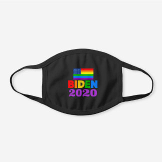 Biden 2020 Rainbow Black Cotton Face Mask