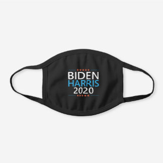 Biden Harris 2020 Black Cotton Face Mask
