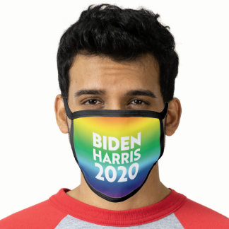 """Biden Harris 2020"" Pride lgbtq lgbt rainbow color Face Mask"