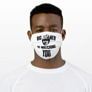 big brother is watching you adult cloth face mask