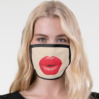 BIG RED BOTOX LIPS FUNNY FACE MASK