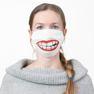 big teeth smile adult cloth face mask