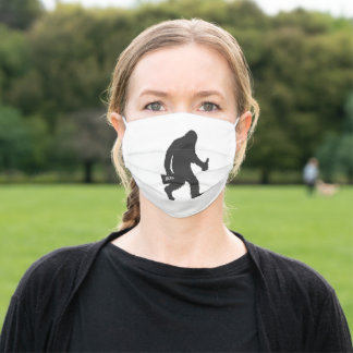 Bigfoot beer silhouette adult cloth face mask